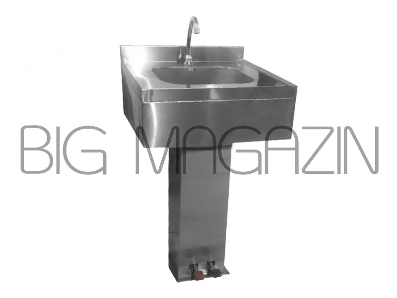 سینک استیل دستشویی و روشویی استیل صنعتی مدل جعبه ای پدالی