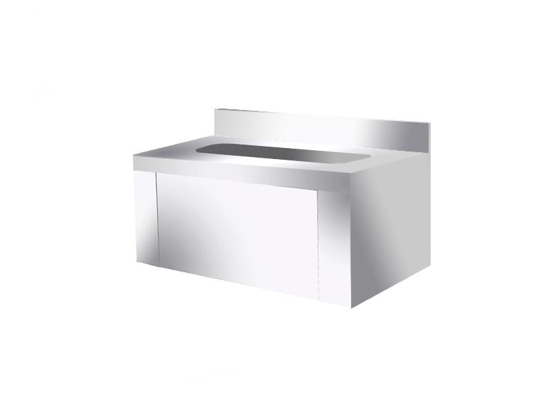 سینک استیل دستشویی و روشویی استیل صنعتی مدل جعبه ای ( پدالی یا زانویی )