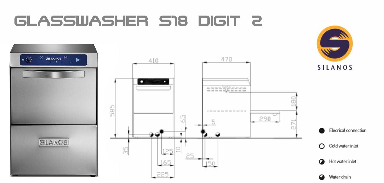 لیوان شور صنعتی سیلانوس مدل اس18 SILANOS S18