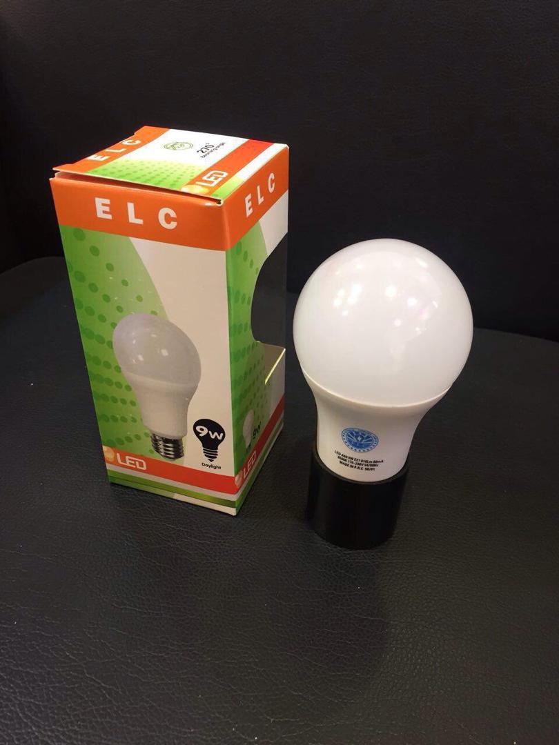 لامپ 9 وات حبابی led elc سرپیچ e27