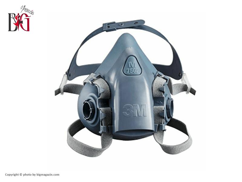 ماسک تنفسی فیلتر دار نیم صورت 3M مدل 7502