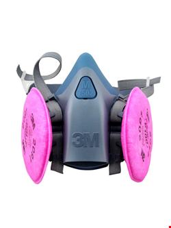 ماسک تنفسی فیلتر دار نیم صورت 3M مدل 7502 اصلی