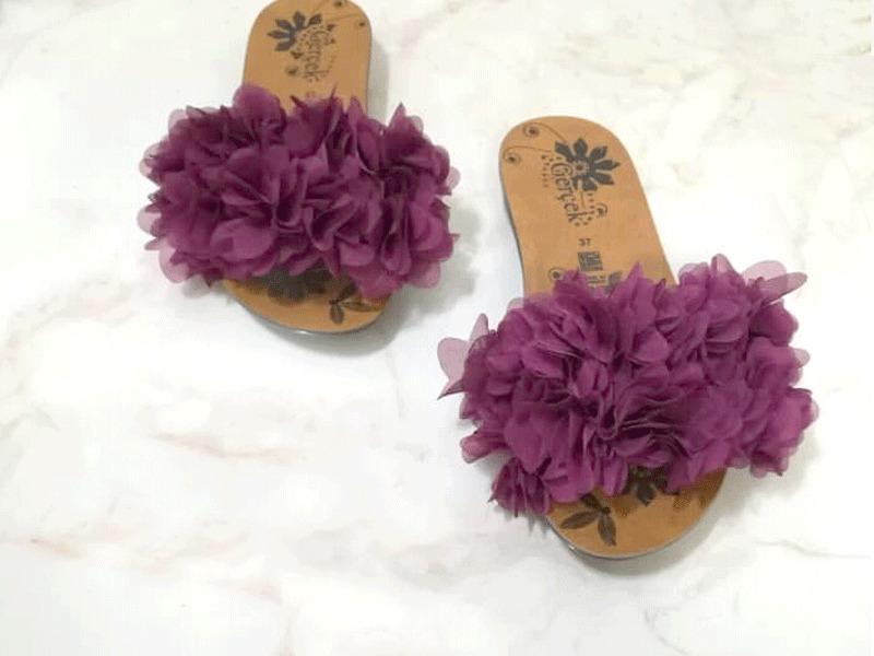 صندل گلدار بسیار شیک در هر رنگی قابل سفارش