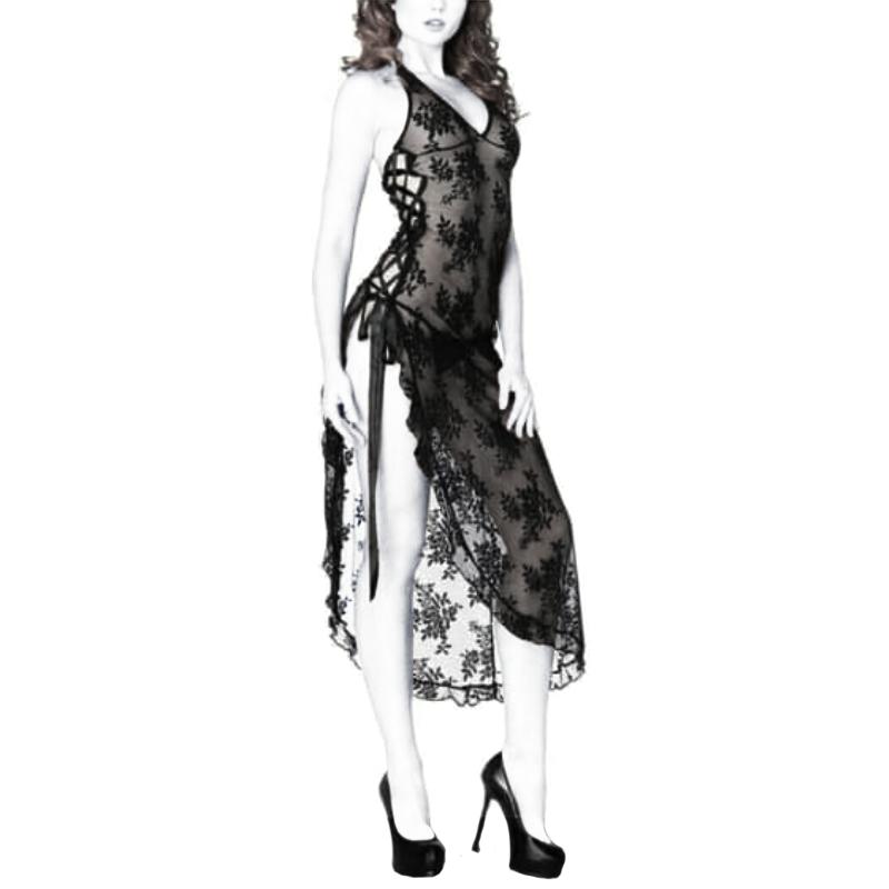 لباس خواب فانتزی دانتل بلند T3005