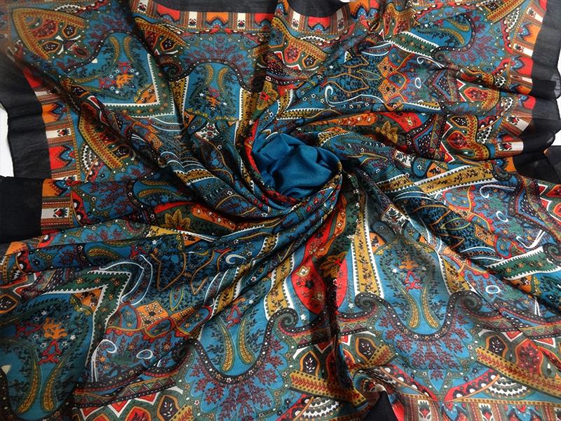 روسری نخی بته جقه دور دوز برند آسگولداس کد 15038