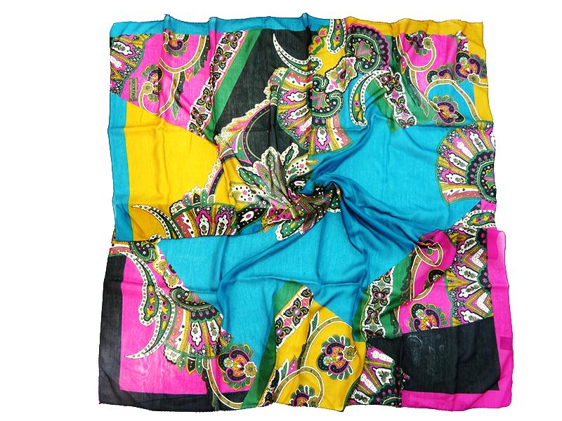 روسری نخی دور دوز ترنج  در رنگ های متنوع در bigmagazin