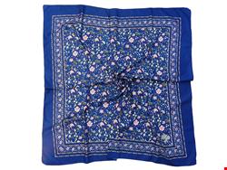 روسری ساتن طرح دار عربی دور دوز گل ریز 15017