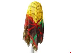 روسری قواره بزرگ نخی طرح پاپیون دور ریش valentino 15032