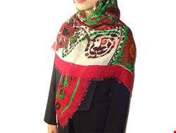 روسری چهار فصل نخی بته جقه صورتی 15005