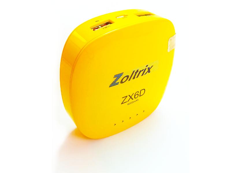 power bank zoltrix 6000 mAh ZX6Dپاور بانک زولتریکس 6000