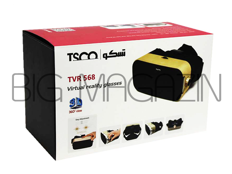 vr box tsco tvr-568 دارای نوبوک ضد لغزش